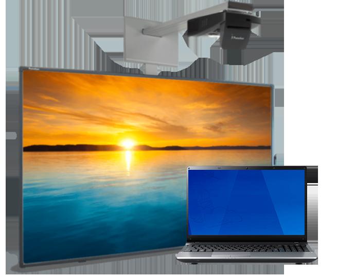 Інтерактивний мультимедійний комплекс для класу: дошка+проектор+комп'ютер. Ціна та характеристики.