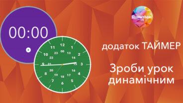 Вбудовані програми інтерактивної панелі – Timer (таймер)