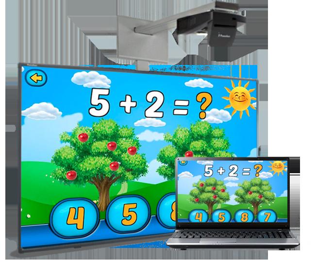 """Мультимедійний комплект для НУШ """"Інтерактивна дошка з проектором та ноутбуком"""". Ціна та характеристики. Ціна та характеристики."""